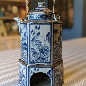 Vintage Japanese Teapot & Warmer